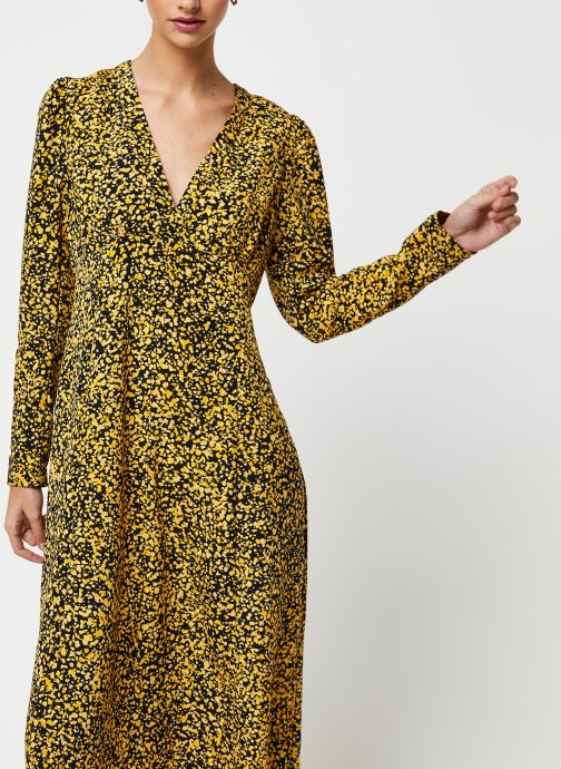 Vêtements Selected Femme Slfjuana LS Ankle Dress Noir vue détail/paire
