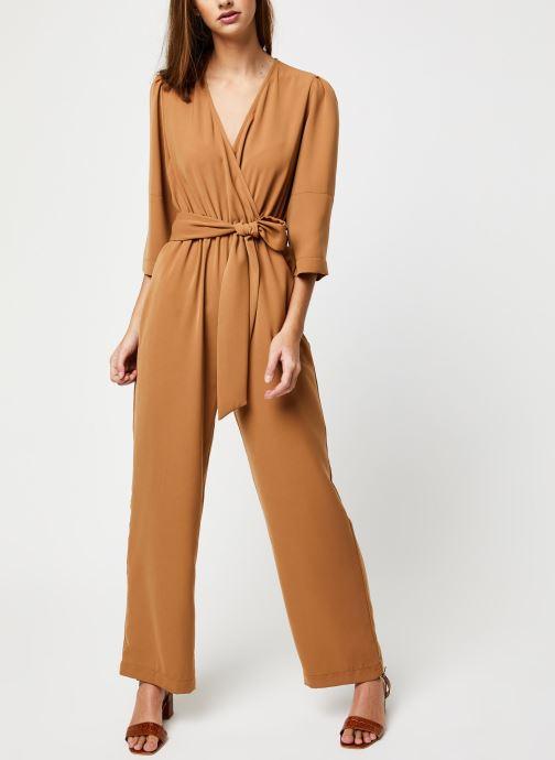 Vêtements Selected Femme Slfjill 3/4 Jumpsuit Marron vue bas / vue portée sac