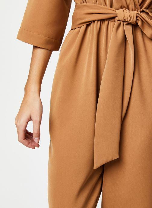 Vêtements Selected Femme Slfjill 3/4 Jumpsuit Marron vue face