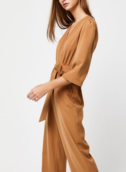Vêtements Selected Femme Slfjill 3/4 Jumpsuit Marron vue droite