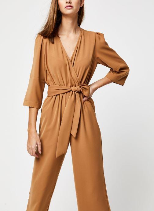 Vêtements Selected Femme Slfjill 3/4 Jumpsuit Marron vue détail/paire