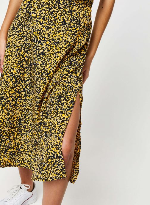 Vêtements Selected Femme Slfjuana HW Midi Skirt Noir vue face