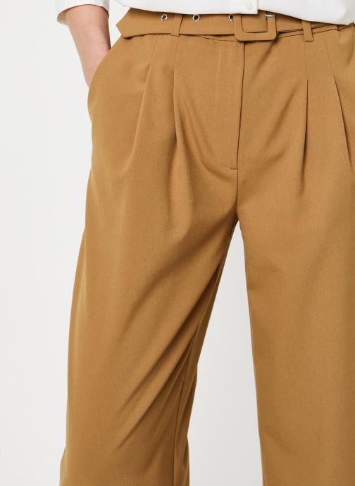 Kleding Selected Femme Slfsill MW Pant Bruin voorkant
