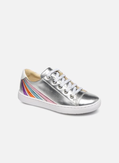 Baskets Shoo Pom Play  Lo Stripes Argent vue détail/paire