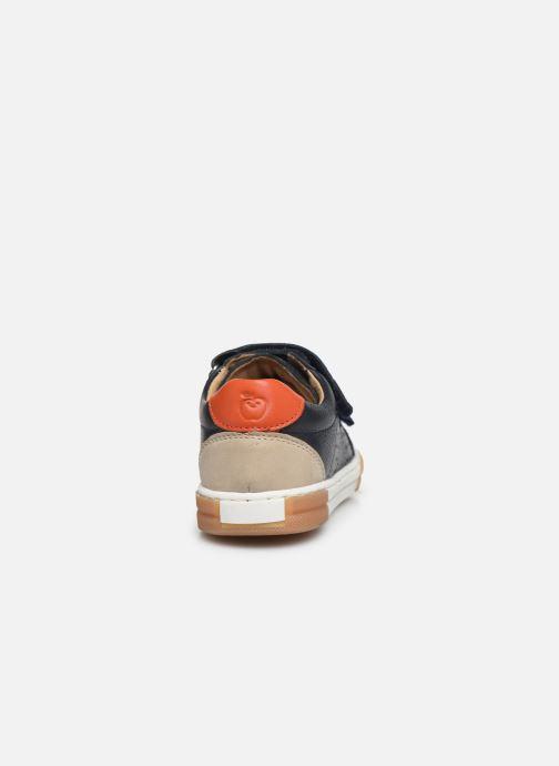 Sneaker Shoo Pom John Lo Scratch blau ansicht von rechts