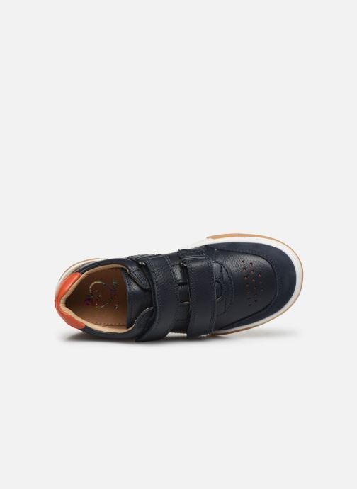 Sneaker Shoo Pom John Lo Scratch blau ansicht von links