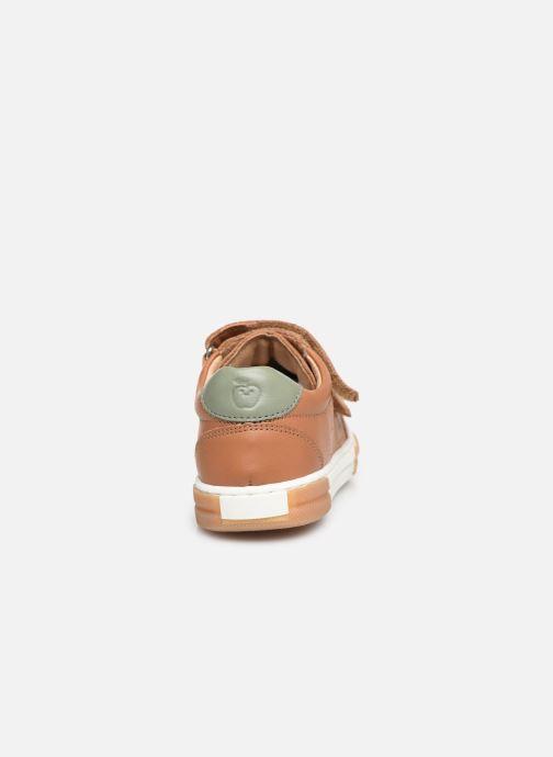 Sneaker Shoo Pom John Lo Scratch braun ansicht von rechts