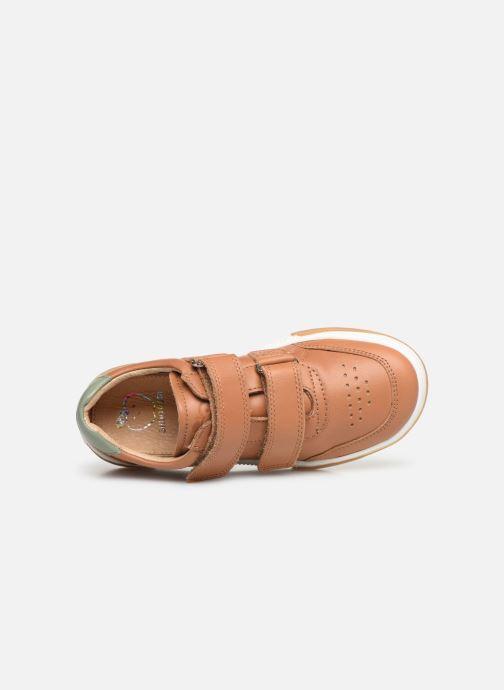 Sneaker Shoo Pom John Lo Scratch braun ansicht von links