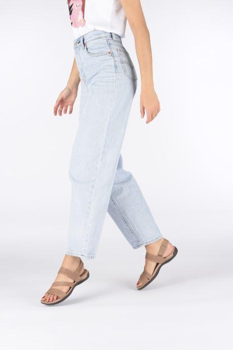 Sandales et nu-pieds Merrell District Kanoya Strap W Beige vue bas / vue portée sac