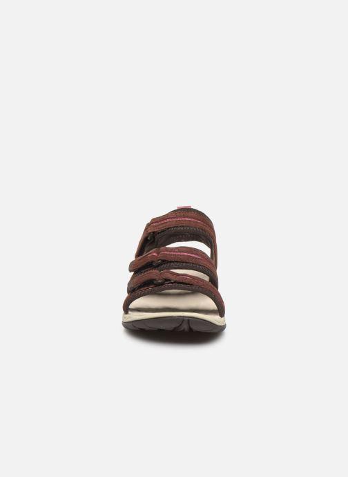 Sandales et nu-pieds Merrell Siren 2 Strap W Bordeaux vue portées chaussures