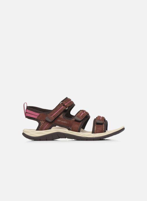 Sandales et nu-pieds Merrell Siren 2 Strap W Bordeaux vue derrière