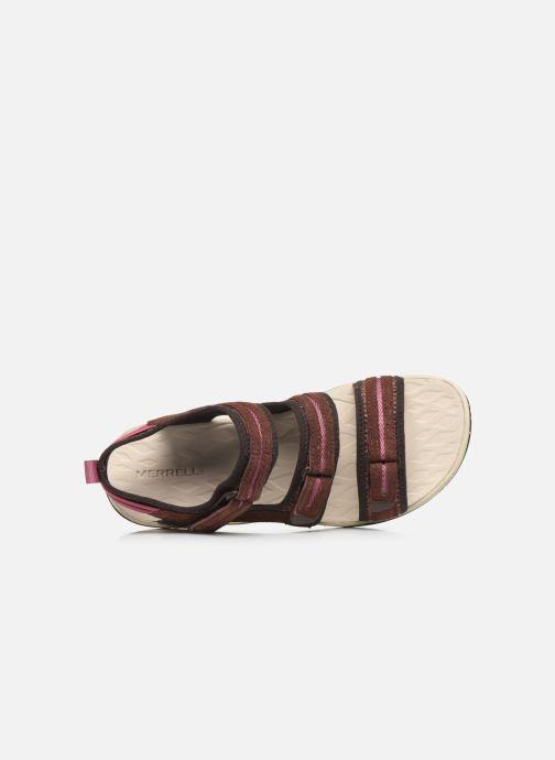 Sandales et nu-pieds Merrell Siren 2 Strap W Bordeaux vue gauche