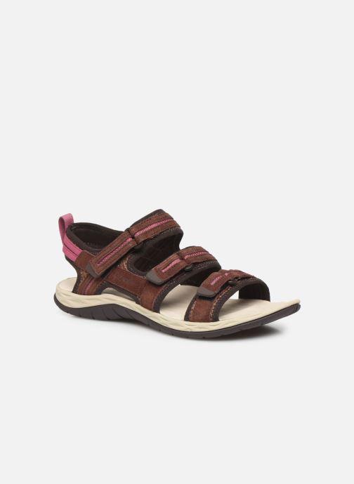 Sandales et nu-pieds Merrell Siren 2 Strap W Bordeaux vue détail/paire
