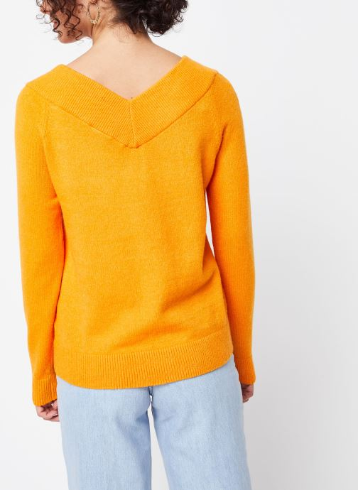 Kleding Vila Knit Viril Oranje model