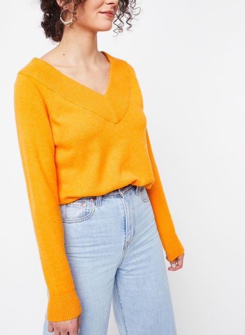 Kleding Vila Knit Viril Oranje detail