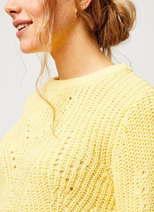 Vêtements Vila Knit Viwishi Jaune vue face