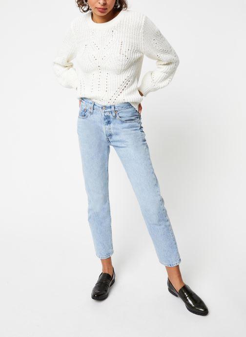 Vêtements Vila Knit Viwishi Blanc vue bas / vue portée sac