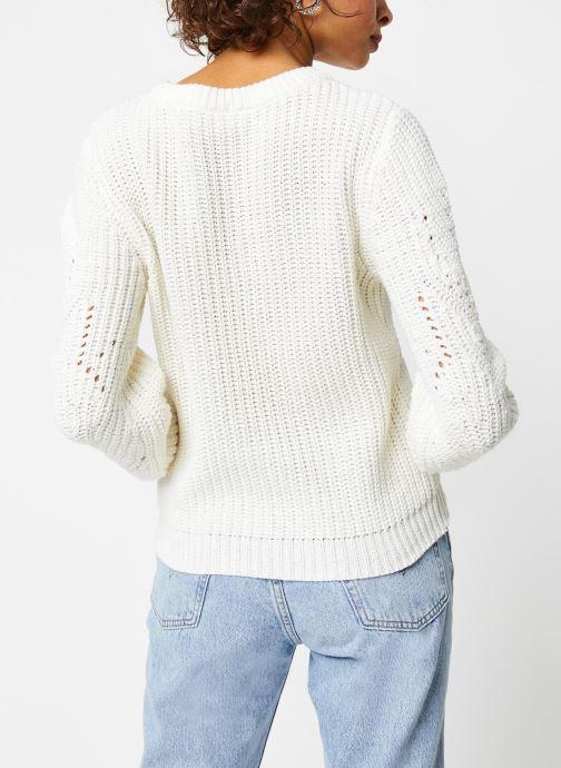 Vêtements Vila Knit Viwishi Blanc vue portées chaussures