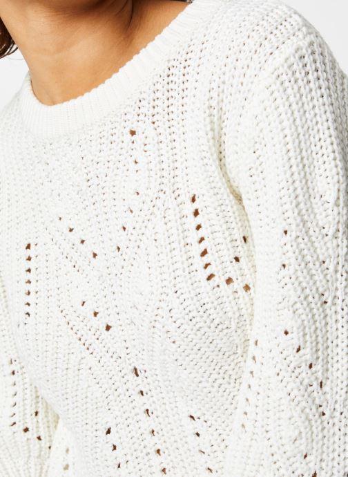 Vêtements Vila Knit Viwishi Blanc vue face