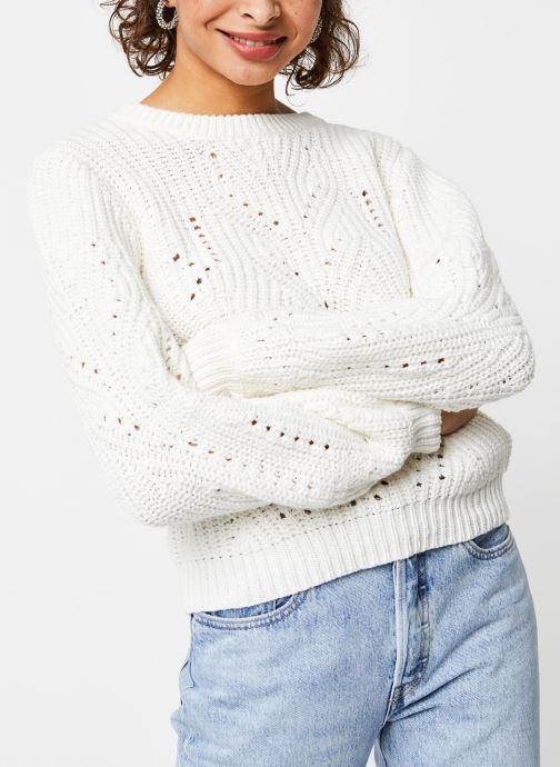 Vêtements Vila Knit Viwishi Blanc vue droite
