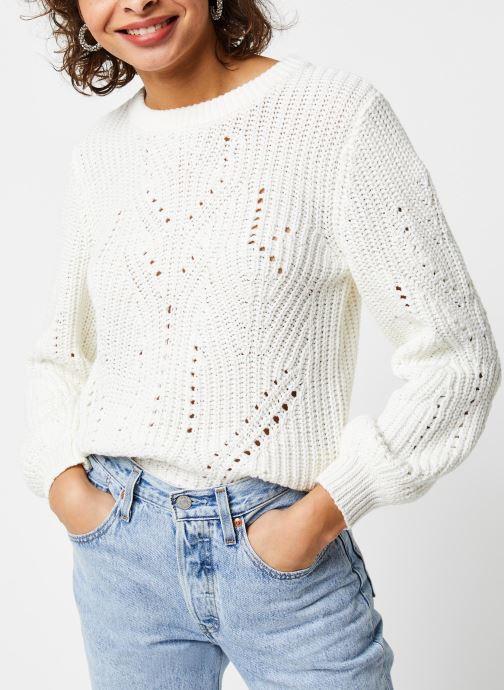 Vêtements Vila Knit Viwishi Blanc vue détail/paire