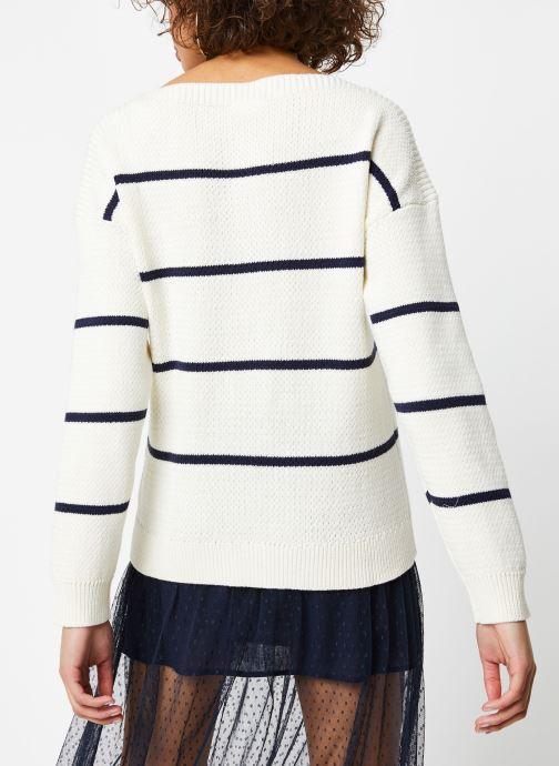 Vêtements Vila Knit Visunset Blanc vue portées chaussures
