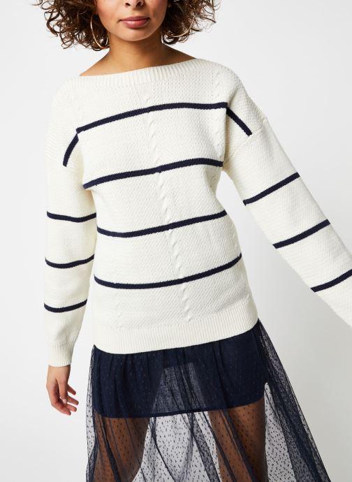 Vêtements Vila Knit Visunset Blanc vue droite