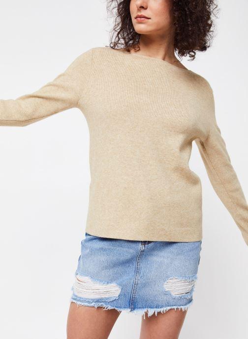 Vêtements Vila Knit Vilacal Beige vue droite