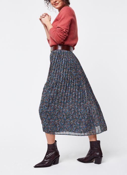 Vêtements Vila Long Skirts Vieloise Bleu vue bas / vue portée sac