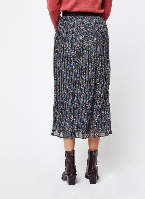 Vêtements Vila Long Skirts Vieloise Bleu vue portées chaussures