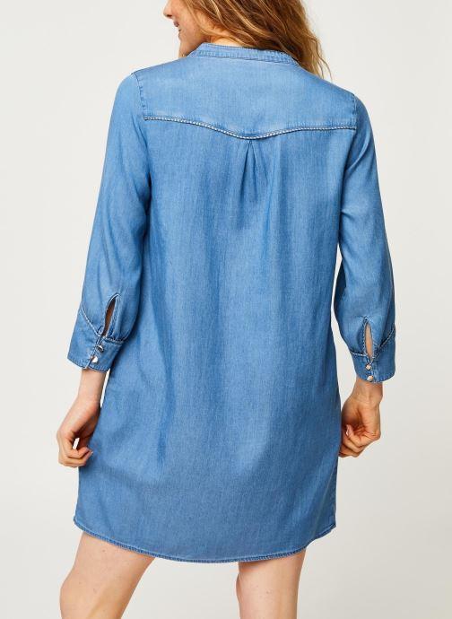 Vêtements Vila Short Dresses Vimakenna Bleu vue portées chaussures