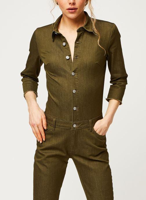 Vêtements Vila Pants Vibarkan Vert vue droite