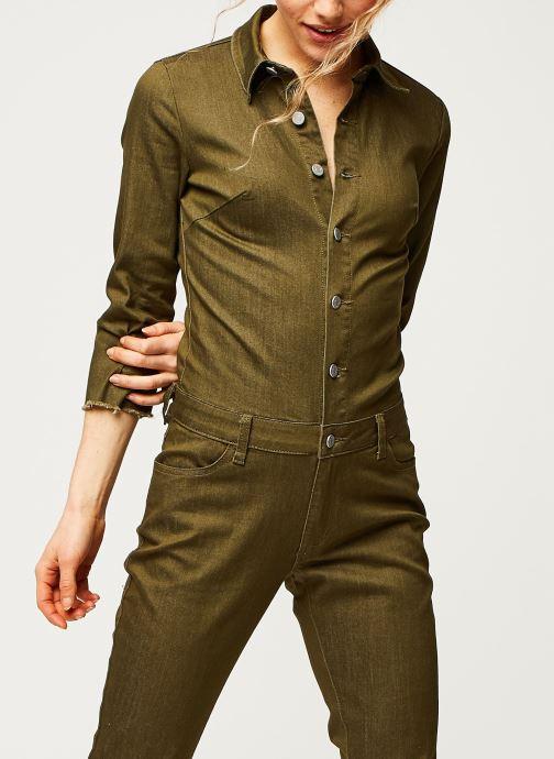 Vêtements Vila Pants Vibarkan Vert vue détail/paire