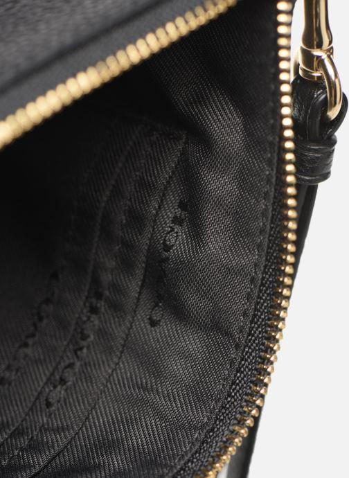 Kleine lederwaren Coach Small Wristlet Zwart achterkant