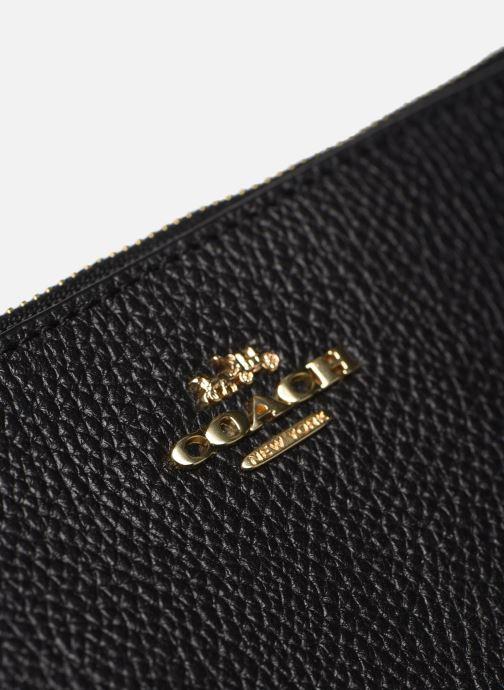 Kleine lederwaren Coach Small Wristlet Zwart links