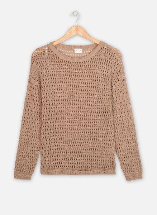 Kleding Vila L/S Knit VILELAS Bruin detail