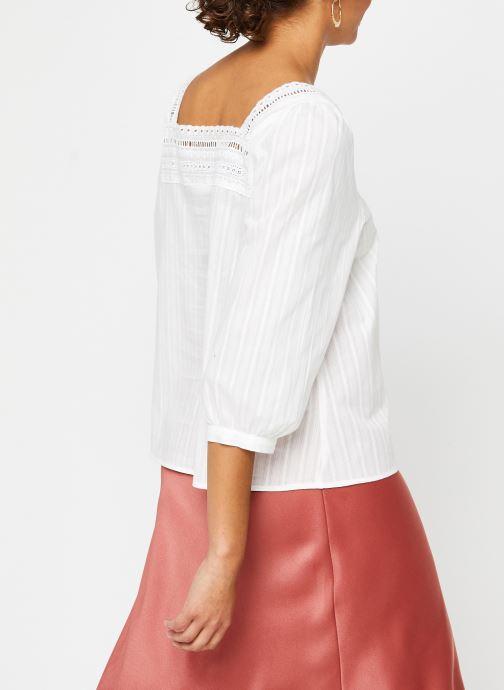 Vêtements Vila 3/4 Tops VIGITTY Blanc vue portées chaussures