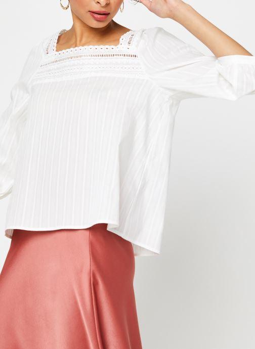 Vêtements Vila 3/4 Tops VIGITTY Blanc vue droite
