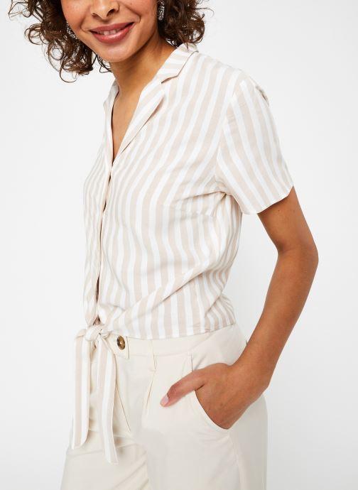 Vêtements Vila S/S Shirts VISOVERA Beige vue droite