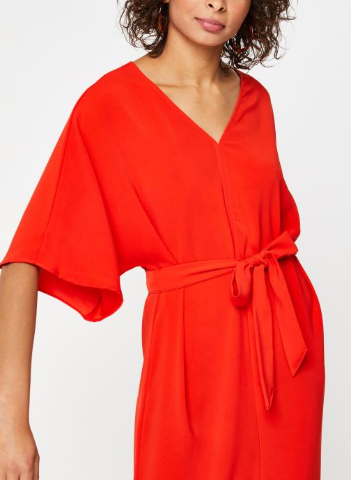 Kleding Vila Long Dresses VIMILENA Rood voorkant