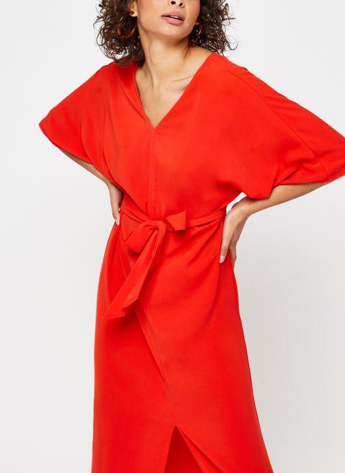 Vêtements Vila Long Dresses VIMILENA Rouge vue détail/paire