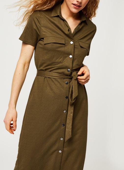Vêtements Vila Short Dresses VISAFINA Vert vue droite