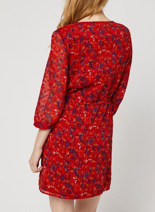 Vêtements Vila Short Dresses VIMARIMA Rouge vue portées chaussures
