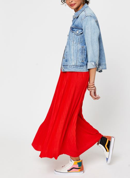 Vêtements Vila Long Skirts VIPLISS Rouge vue bas / vue portée sac