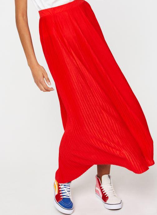 Vêtements Vila Long Skirts VIPLISS Rouge vue détail/paire