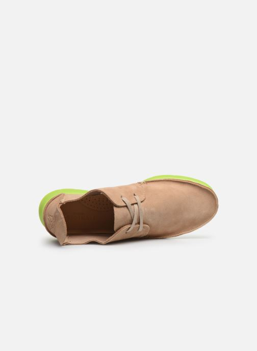 Lace-up shoes Clarks Originals Seven M Beige view from the left
