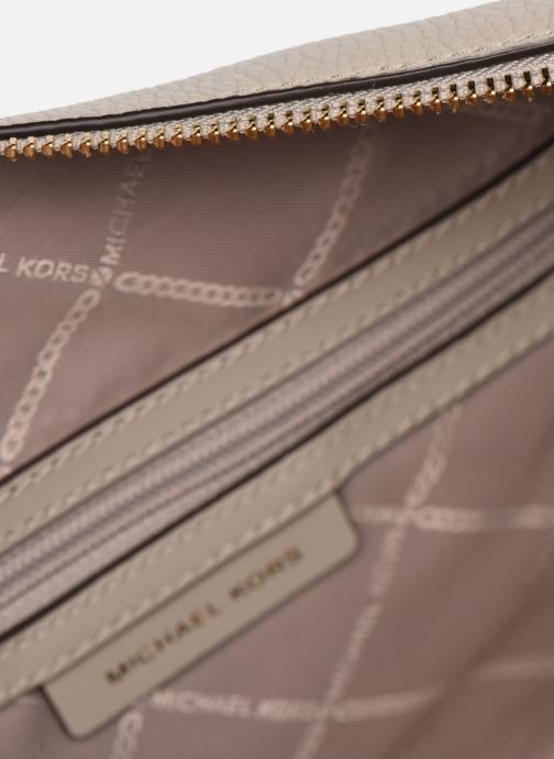 Handtaschen Michael Michael Kors CARINA SATCHEL beige ansicht von links