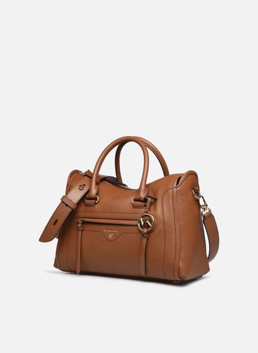 Handtaschen Michael Michael Kors CARINA SATCHEL braun schuhe getragen
