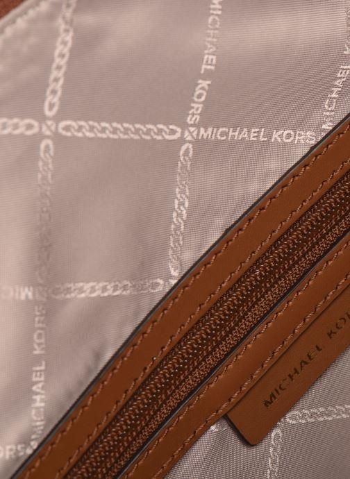 Handtaschen Michael Michael Kors CARINA SATCHEL braun ansicht von hinten