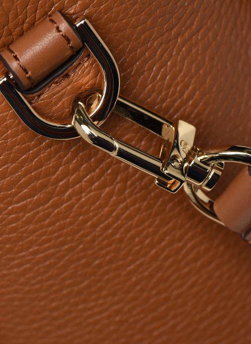 Handtaschen Michael Michael Kors CARINA SATCHEL braun ansicht von links